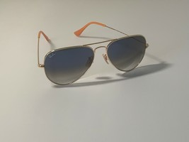 Ray-Ban RB3025 Aviator Gradient 001/3F Gold Frame Light Blue Gradient Le... - $52.70