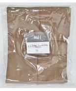 Restoration Hardware Sateen Lumbar Sham Garment Dyed Sable Brown New - $28.13