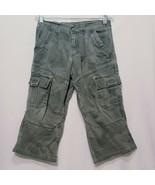 Camouflage Cargo Pants Boys Size 8 Husky Wrangler Adjustable Waist Green - $17.99