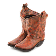 Outdoor Flower Planters, Decorative Polyresin Planters Resin Cowboy Boot... - $28.93
