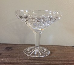 Vtg Signed 2001 Waterford Crystal Fred Curtis Hand Cut Pedestal Dish Bowl - $27.99
