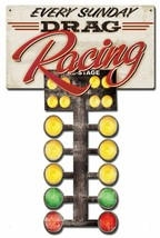 Drag Racing Tree, Racing Every Sunday, Plasma Cut Sign - $49.95