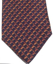 Italian Silk Tie Wembley Dolphin Leaping Mens Designer Necktie Orange Na... - $34.64