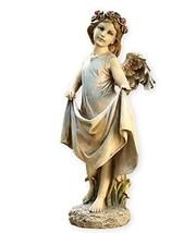 Angel with Skirt 20 Inch Resin Decorative Indoor Outdoor Garden Birdfeed... - $79.74