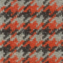 Camira Nomad Orange Houndstooth Nettle Wool Upholstery Fabric 3.625 yds ... - $68.88