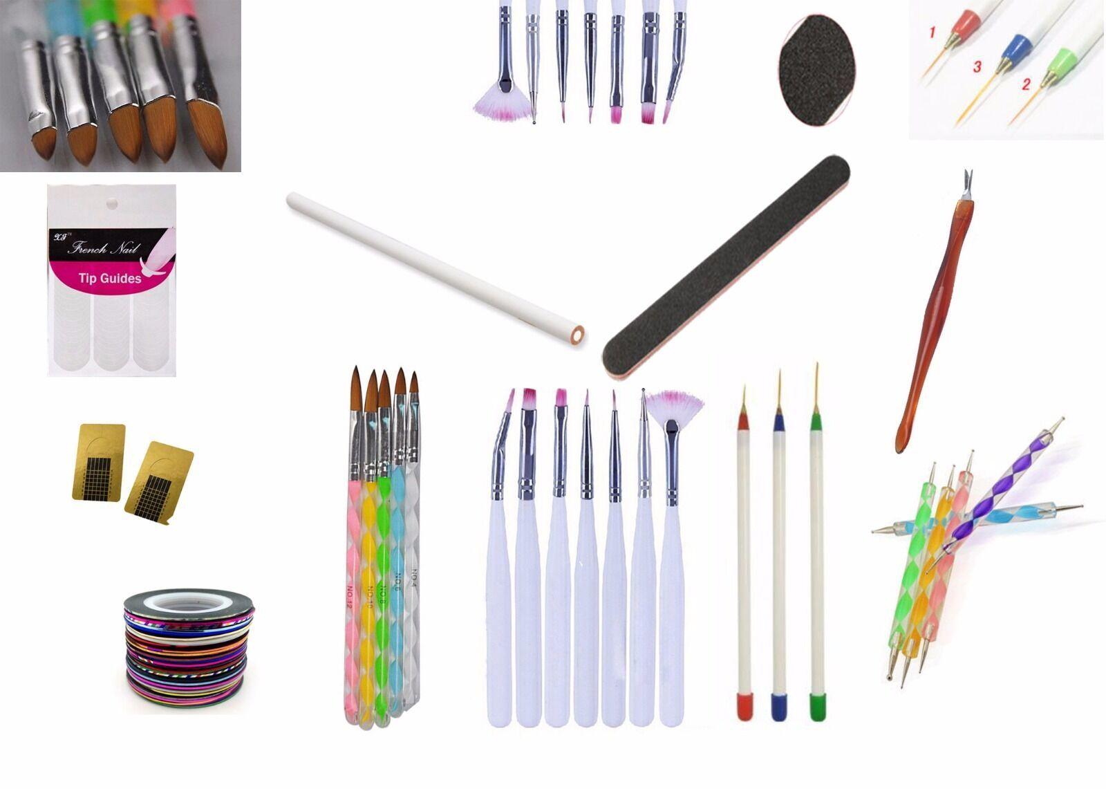 Nail Art Acrylic UV Gel Pens Dotting Painting Set Design 54pcs
