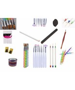 Nail Art Acrylic UV Gel Pens Dotting Painting Set Design 54pcs - $17.99