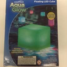 Aqua Glow Pool  Light Floating Cube Summer LED Multi Colored Lighting Ef... - $11.97
