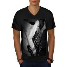 Bass Guitar Jazz Music Shirt Instrument Men V-Neck T-shirt - $12.99+