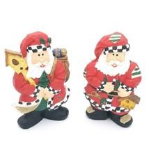 "2 Santa Claus Christmas Decoration Holiday Decorating Decor 7.75"" inches... - $9.69"