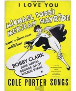 ORIGINAL Vintage 1943 Cole Porter I Love You Sheet Music Mexican Hayride - $18.55