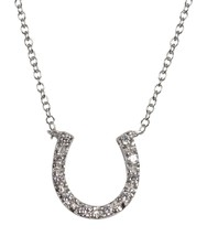 Pendant Horse Shoe Equestrian Sterling Silver Necklace 16 to 18 Inch Len... - $27.12