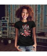 American Flag Shirt USA Country Women T-shirt - $12.99