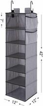 Hanging Closet Organizer, 6-Shelf Dorm Room Closet Organizers and Storag... - €83,81 EUR