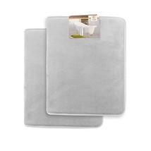 Clara Clark Memory Foam Bathrug 2 Pack Set - Silver - Bath Mat and Showe... - $44.48