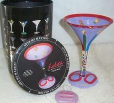 60th Birthday Gift Love My Martini Glass Lolita Hand Painted Artsy Bar D... - $22.76