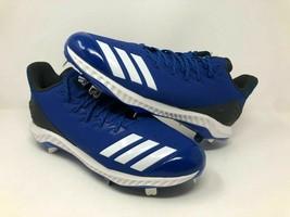New Adidas Men's Baseball Icon Bounce Metal Cleats 12 Royal Blue CG5243 AAC41 - $12.99