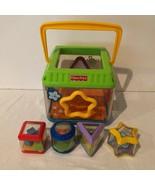 Fisher Price Peek A Block Musical Shape Sorter Cube Toy All 4 Original B... - $14.99