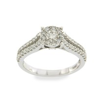 14K White Gold 0.82 CT Diamonds Engagement Ring Size 7 »N24 - £726.00 GBP