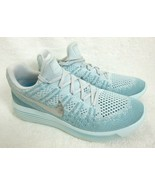 Nike Womens Lunarepic Low Flyknit 2 Running Shoes Glacier Blue Silver Si... - $81.96