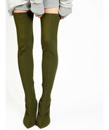 Free People Womens Paris OTK OB724083 Boots Pointed Green Size US 7 - $73.12