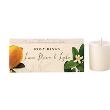 Rosy Rings Lemon Blossom and Lychee Hand Poured Votive Candles Set of 3 - €20,16 EUR