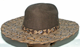 Bullhide Hat 0599 Platinum Cowgirl Chocolate One More Time 8x Monteca si... - $197.95