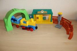Playmobil Train Set Engine Car Station Traffic Light - $24.74