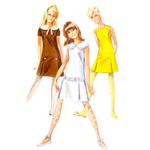 1960s Vintage Simplicity Sewing Pattern 7493 Young Junior Teen A-Line Dr... - $7.95