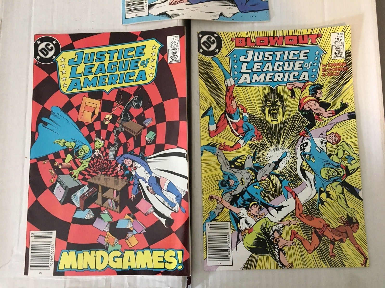 Justice League Of America 246 248 254 255 257 DC Book Lot Of 5 1986 VF Condition