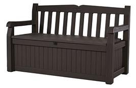 Keter Eden 70 Gallon All Weather Outdoor Patio Storage Garden Bench Deck... - $153.99