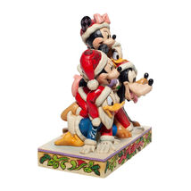 "6"" Stacked in a Holiday Pyramid -  Mickey & Pals Jim Shore Disney Traditions image 4"