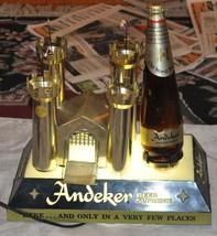 ANDEKER BEER advertising sign castle 1950s 60s VTG LIGHT WORKS - $121.54