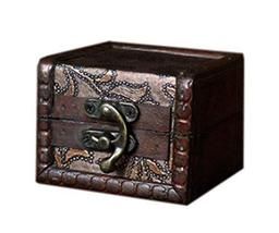 Nice And Nostalgic Square Wooden Jewelry Box Cosmetic Case