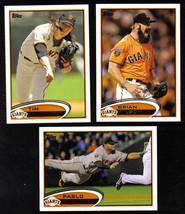 2012 Topps San Francisco GIANTS Team Set Both Series (18 cards) WORLD CH... - $5.90