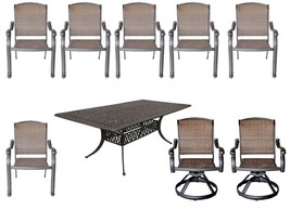 Elisabeth 9 piece cast aluminum patio dining set with Santa Clara dining chairs image 1