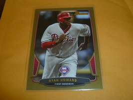 2013 Bowman GOLD Parallel Ryan Howard Philadelphia Phillies #190 - $1.49