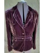 WRAP Purple Velvet Blazer Short Steam Punk? Womens Size M 10/12  Euro 40/42 - $50.00