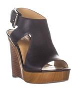 MICHAEL Michael Kors Josephine Platform Wedge Sandals, Charcoal, 6 US / ... - $61.43