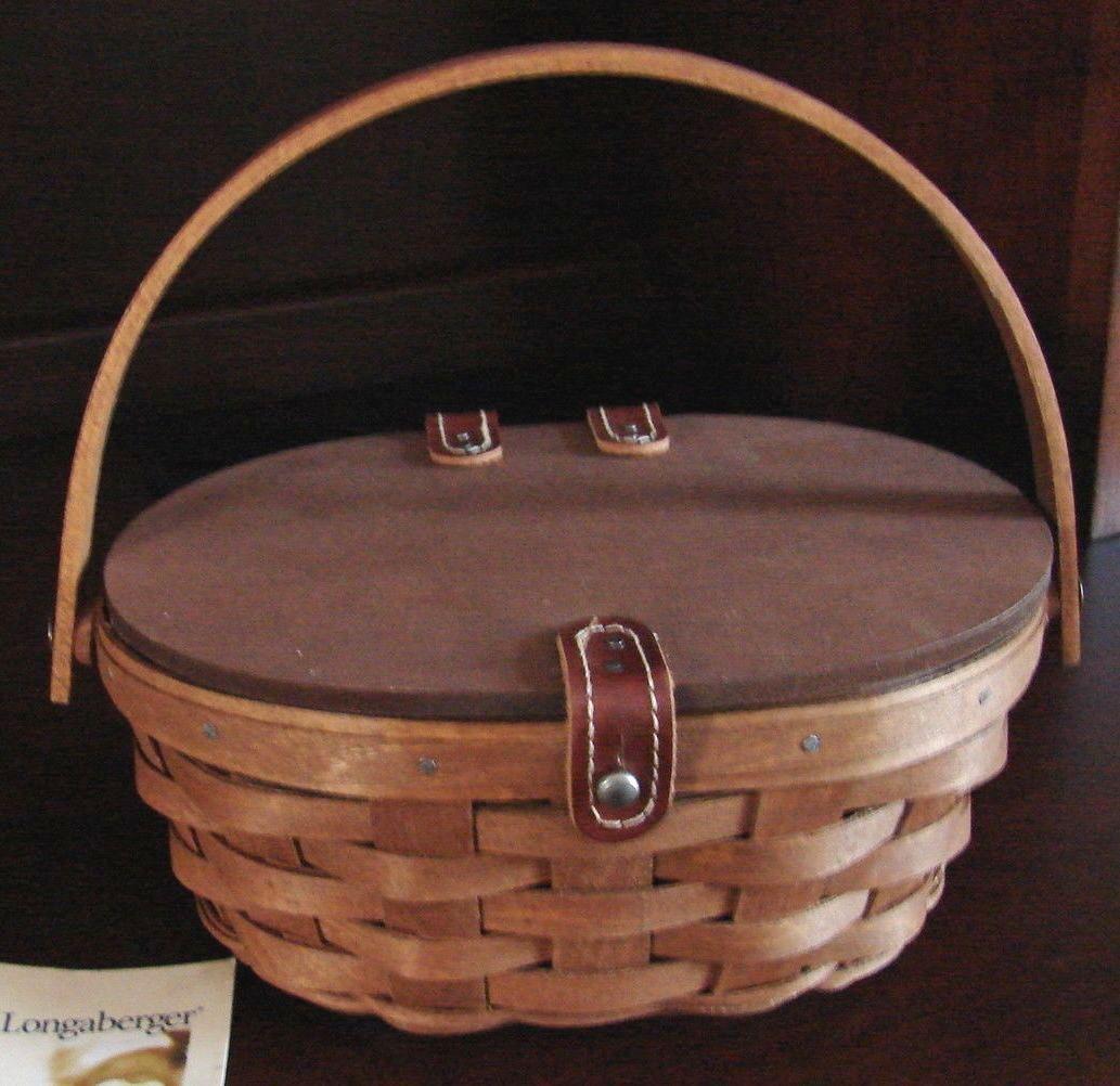 Longaberger Oval Kiddie Kiddy Purse Basket Sage Green OE Liner Only New