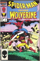 Spider-Man versus Wolverine Comic Book #1 Marvel Comics 1987 VERY FINE+ ... - $19.26