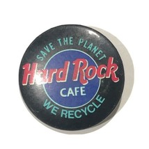 """Vtg Hard Rock Cafe We Recycle, Save The Planet Pinback Button Pin 1-1/4"""" - $4.99"""