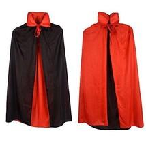 "Custome Black Red Reversible Dress Goth Devil Pirate Vampire Demon 35"" C... - $12.05"