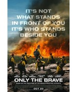 ONLY THE BRAVE MOVIE POSTER 2 Sided ORIGINAL 27x40 JENNIFER CONNELLY JOS... - $35.00