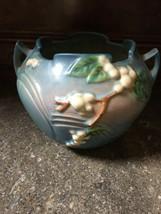 Roseville Pottery Snowberry Blue Jardinière IRB-5 - $90.25