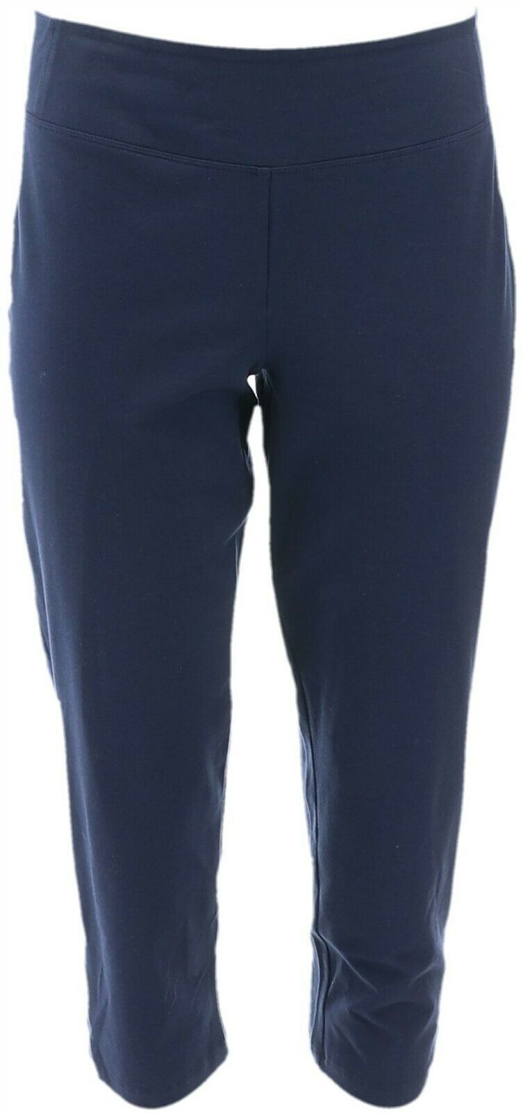 Primary image for Women with Control Petite Control Crop Pants Navy P2X NEW A350646