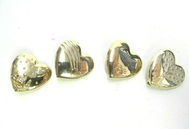 LOT OF 4 THE VARIETY CLUB HEART HAT BROOCH PINS DREAM WORKS GOLD TONE PO... - $12.34
