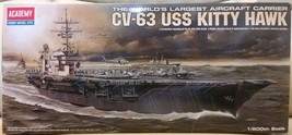 Academy 1/800 scale CV63 USS Kitty Hawk aircraft carrier display model kit 14210 - $21.78