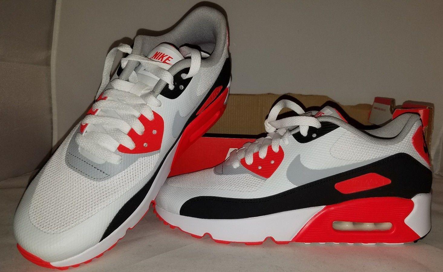 best sneakers bcd1f 7de8d Nike Air Max 90 Ultra 2.0 GS 869950 White Grey Crimson Men s Boys Size 7  Fast