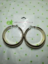 Kelly & Katie Fashion Earrings Gold Tone Large Hoop Earrings 1 3/4 Inch New - $15.83